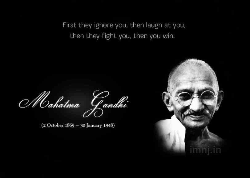 Gandhi Quotes: London Roots